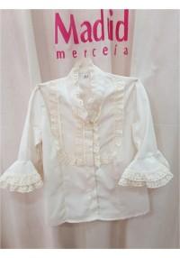 Camisa señora/nilña manga al codo